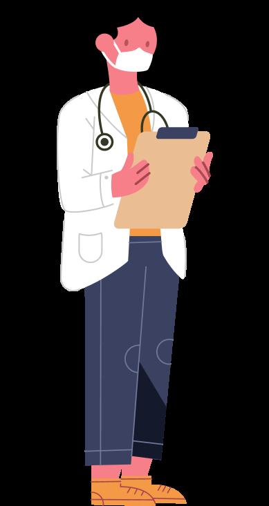 lekárka ilustrácia